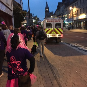 We were followed around the town by two ambulances.