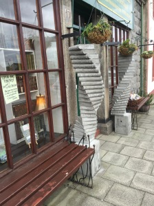 Outside 'The Book Shop'