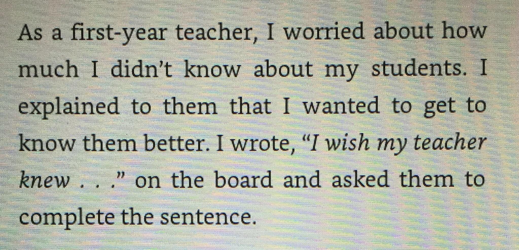 i wish my teacher knew book pdf